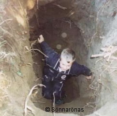Det här hålet är nästan tre meter djupt!